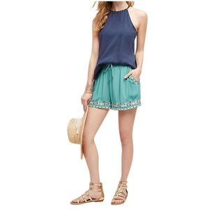 Anthropologie Embroidered Isle Shorts New Hei Hei
